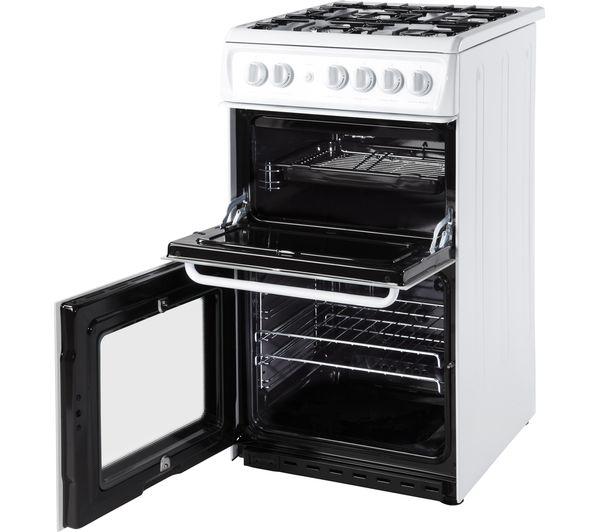 TSL_HAG51P - HOTPOINT HAG51P Gas Cooker - White - Currys PC World ...