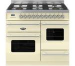 BRITANNIA Delphi 100 XG RC10XGGDECR Dual Fuel Range Cooker - Gloss Cream & Stainless Steel
