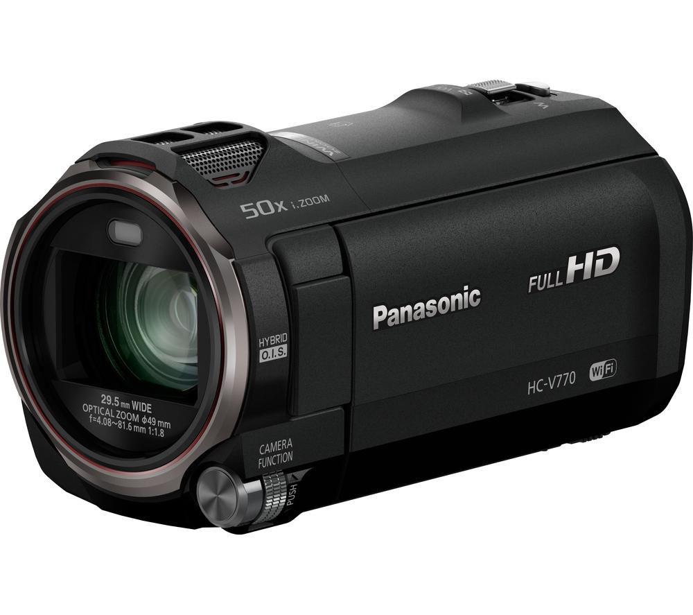 PANASONIC HC-V770EB-K Full HD Camcorder - Black