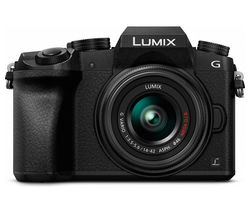 PANASONIC Lumix DMC-G7EB-K Mirrorless Camera with 14-42 mm f/3.5-5.6 Lens - Black
