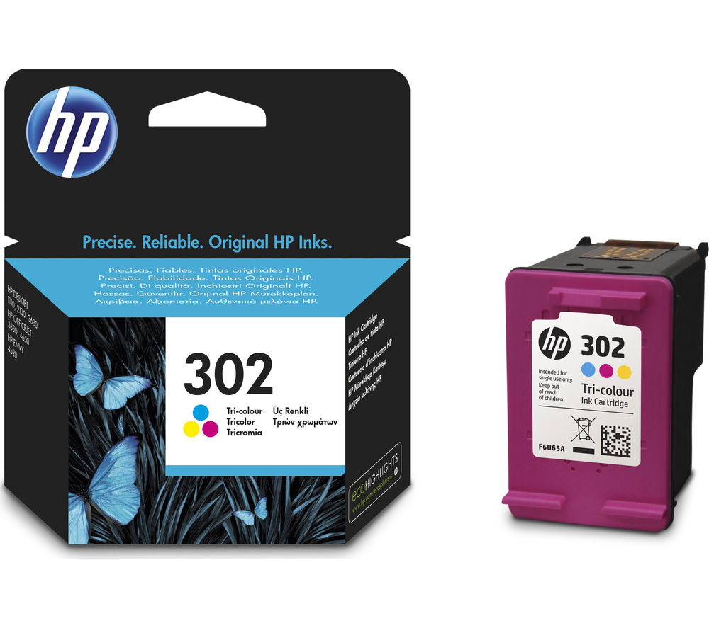 HP 302 Tri-colour Ink Cartridge + 100 x 150 mm Photo Paper - 30 Sheets