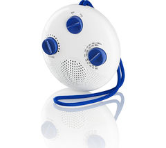 LOGIK LSR16 Portable FM/AM Bathroom Radio - White & Blue