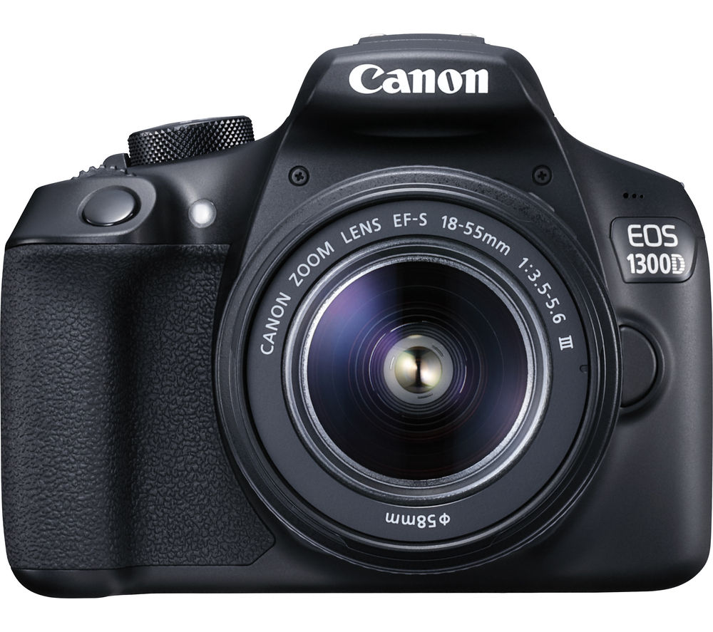 CANON EOS 1300D DSLR Camera with EF-S 18-55 mm f/3.5-5.6 III Lens