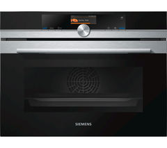 SIEMENS CS656GBS1B Compact Electric Steam Oven - Stainless Steel