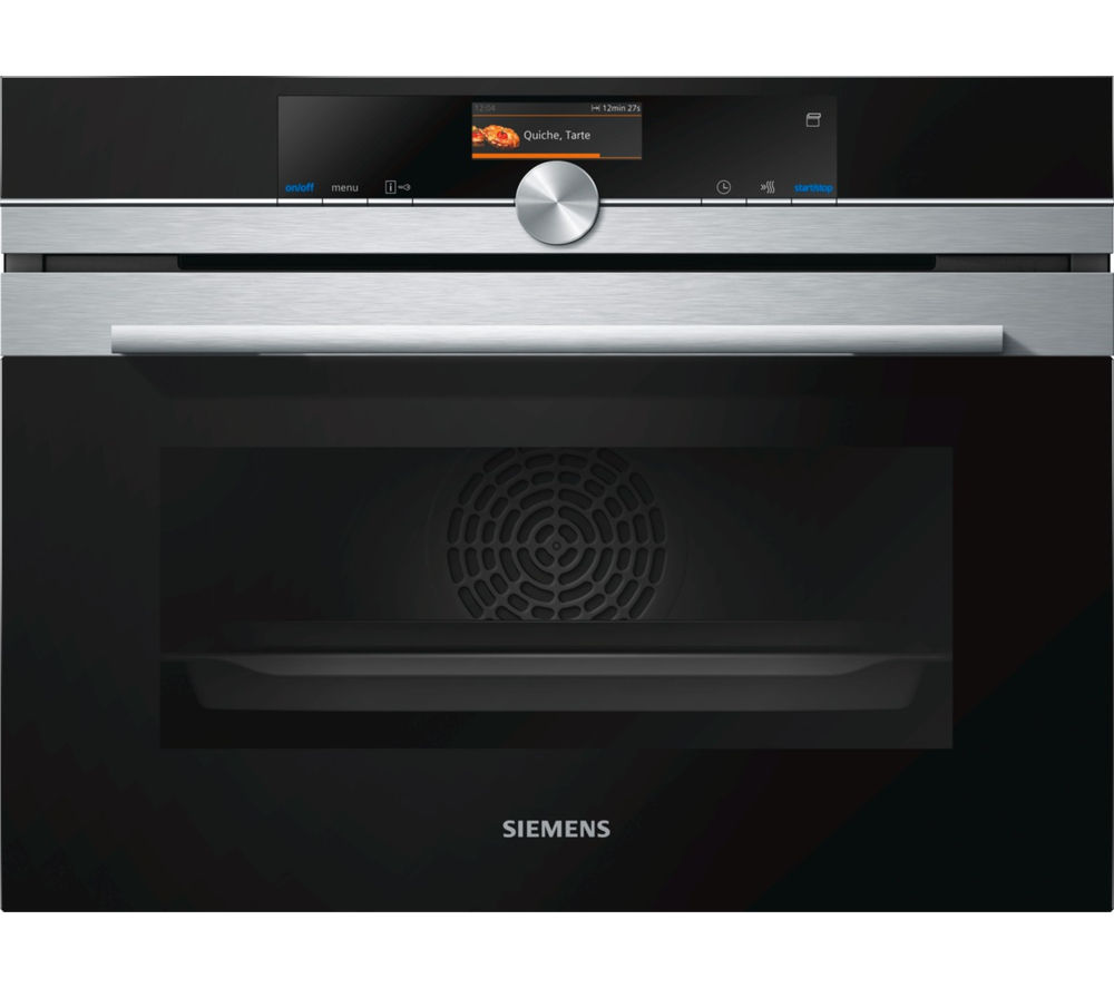 SIEMENS CS656GBS1B Compact Electric Steam Oven - Stainless Steel, Stainless Steel