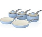 SWAN Retro 5-piece Non-stick Pan Set - Blue