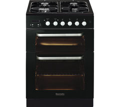 BAUMATIC BCG625BL Gas Cooker - Black