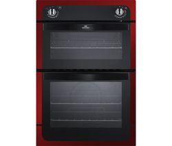 NEW WORLD NW901DO Electric Double Oven - Black & Red