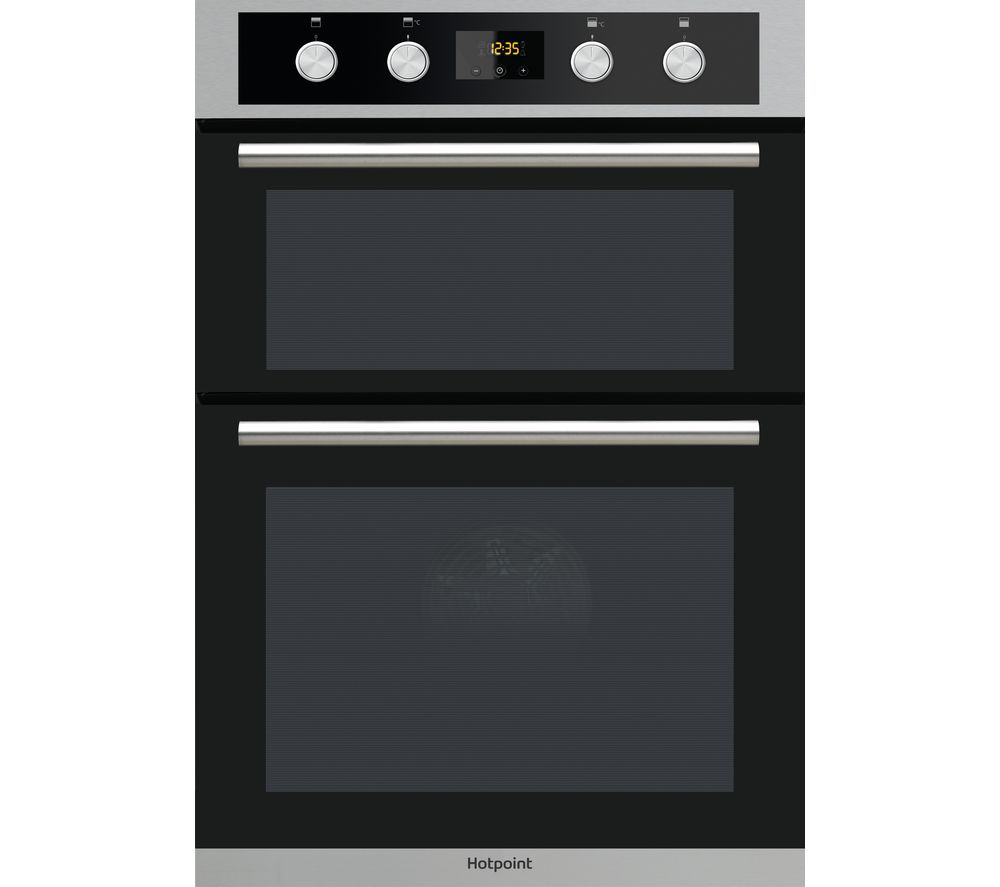 HOTPOINT Class 2 DD2 844 C IX Electric Double Oven - Stainless Steel & Black, Black