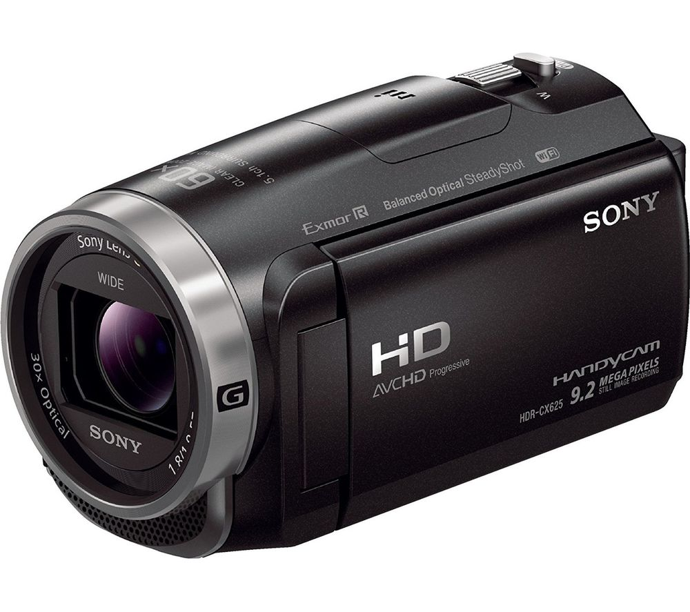 SONY HDR-CX625 Traditional Camcorder - Black + Adventura SH110 ll Camcorder Case - Black