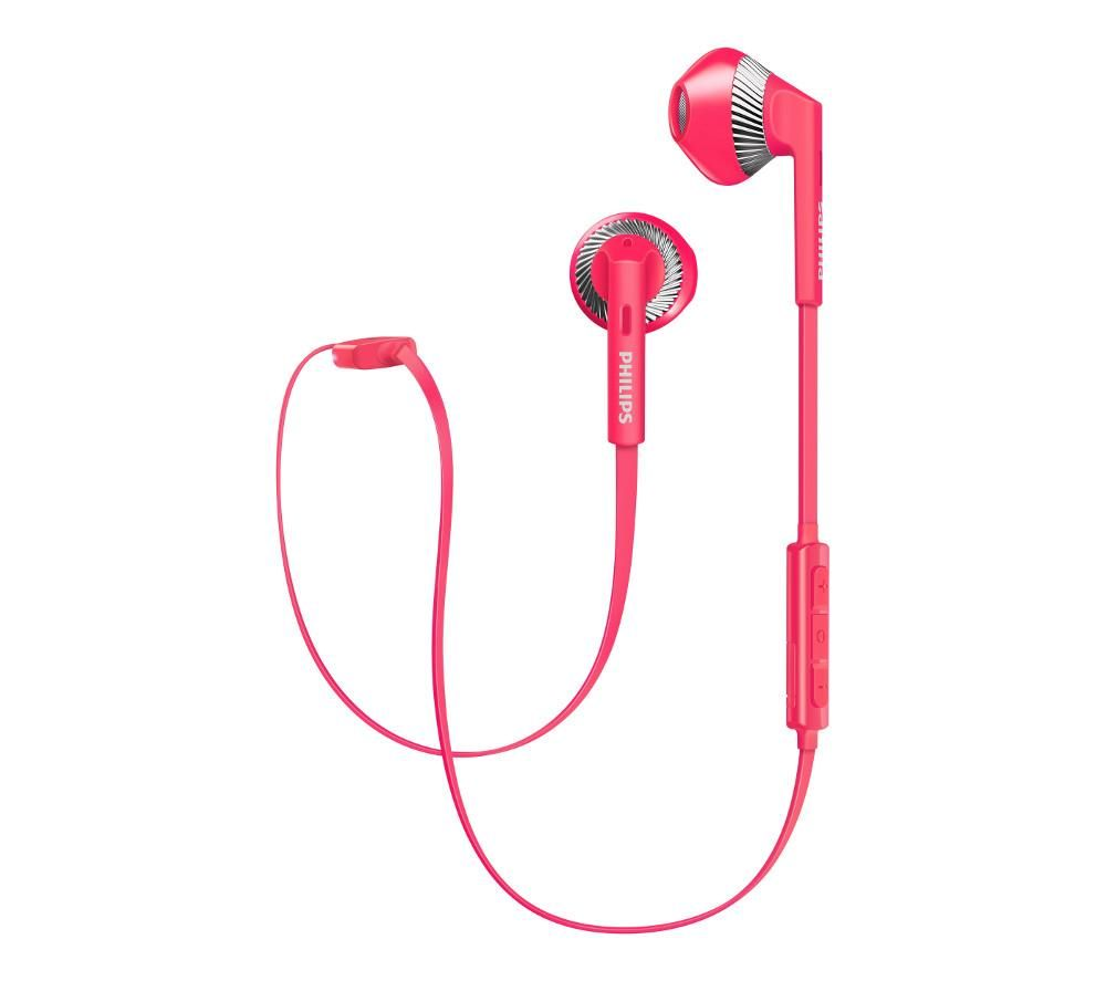 PHILIPS SHB5250PK Wireless Bluetooth Headphones - Pink