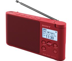 SONY XDR-S41D Portable DAB+/FM Radio - Red