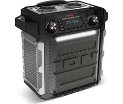 ION Block Rocker Sport Portable Bluetooth Wireless Speaker - Black & Grey