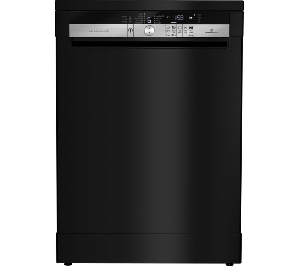GRUNDIG GNF41821B Full-size Dishwasher - Black