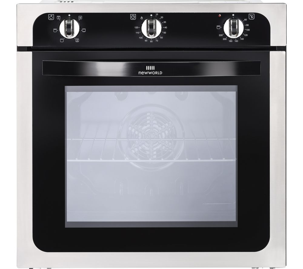 NEW WORLD NW602F STA Electric Oven - Black & Stainless Steel