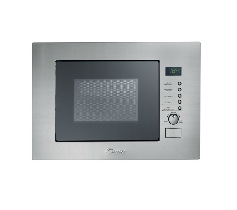 CANDY MIC20GDFX Built-in Compact Microwave with Grill - Stainless Steel