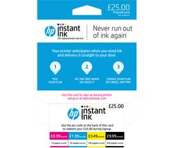 HP Instant Ink £25 Prepaid Card