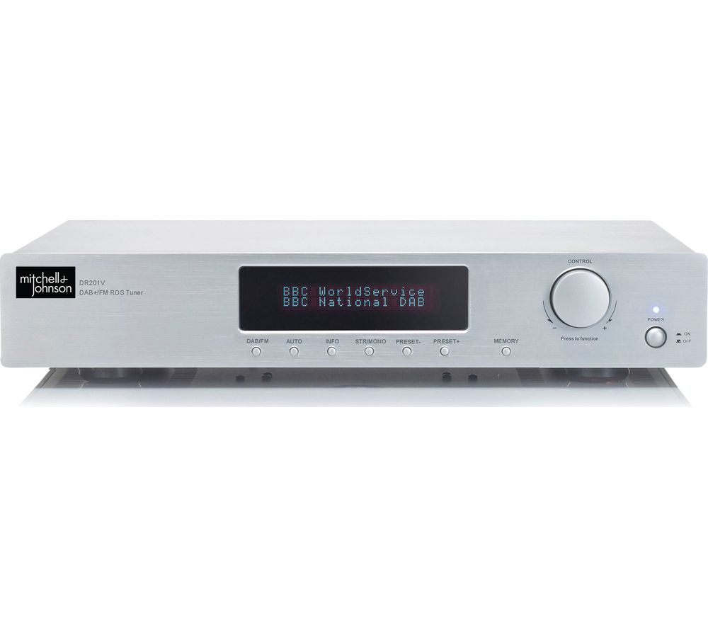 buy m j dr 201v stereo dab fm tuner silver free. Black Bedroom Furniture Sets. Home Design Ideas