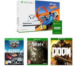 MICROSOFT Xbox One S, Games & Xbox LIVE Membership Bundle