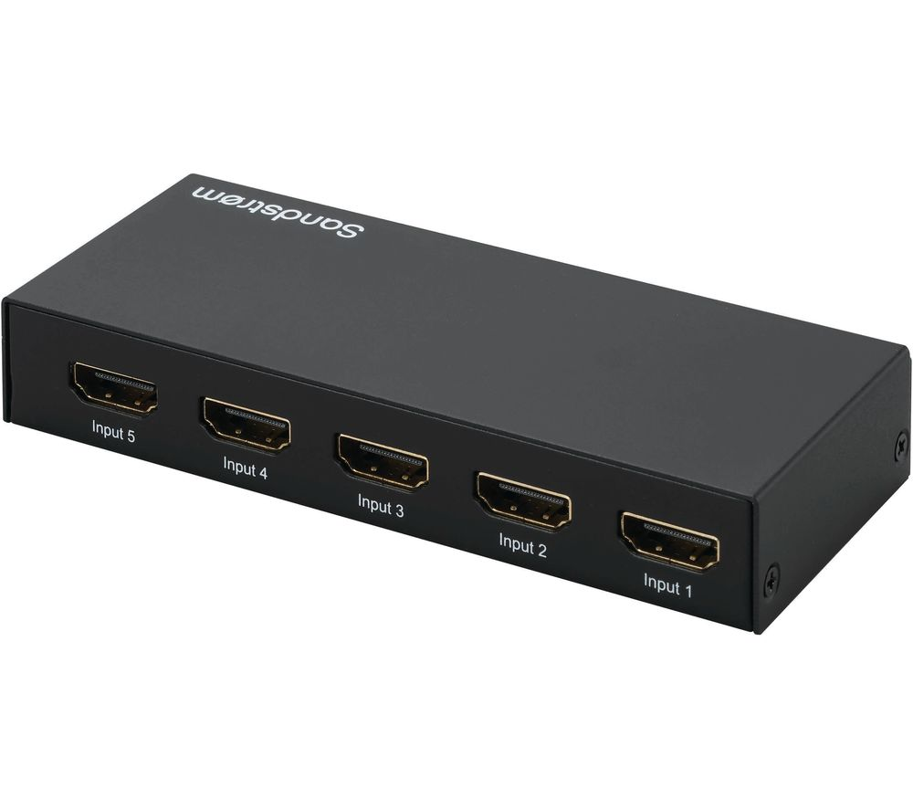 SANDSTROM SHDSW18 5-Way 4K HDMI Switch Box
