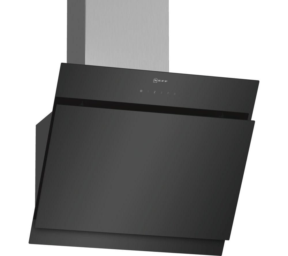 Image of NEFF D65IHM1S0B Chimney Cooker Hood - Black, Black