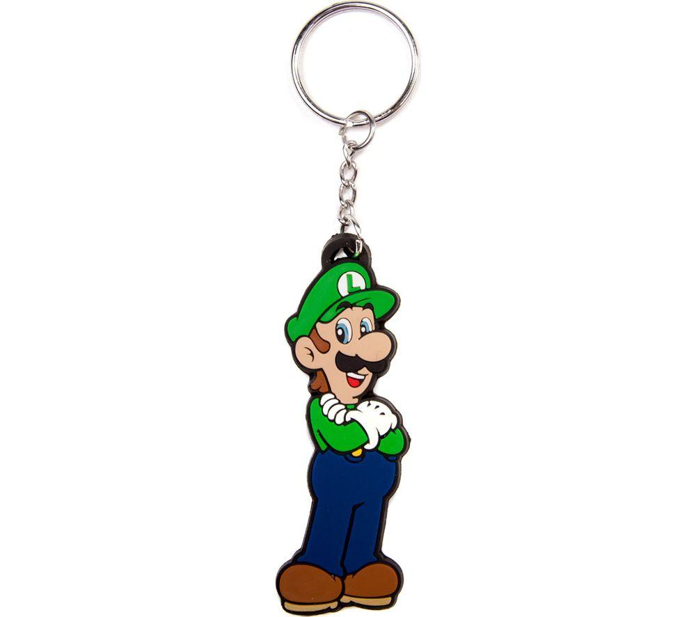 NINTENDO Luigi Rubber Keychain - Green & Blue