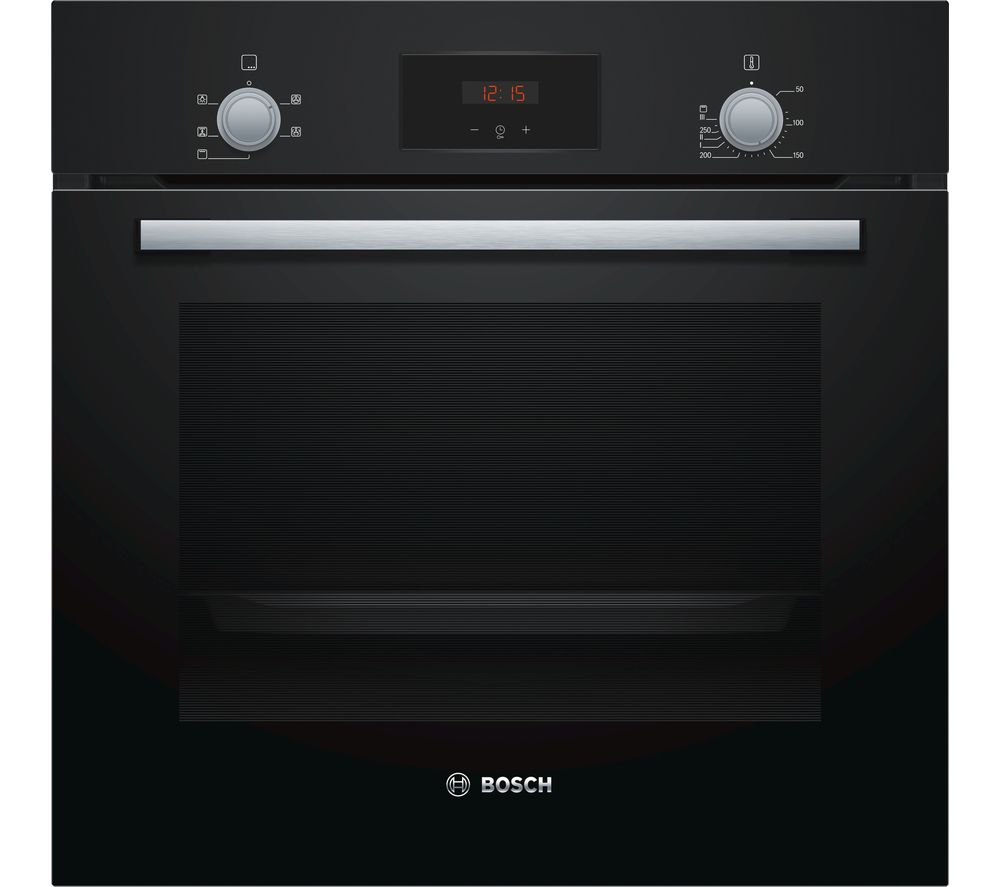 Image of BOSCH HHF113BA0B Electric Oven - Black, Black