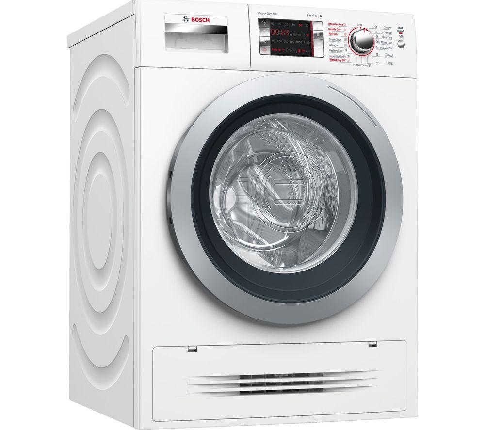 BOSCH Serie 6 WVH28424GB 7 kg Washer Dryer - White, White