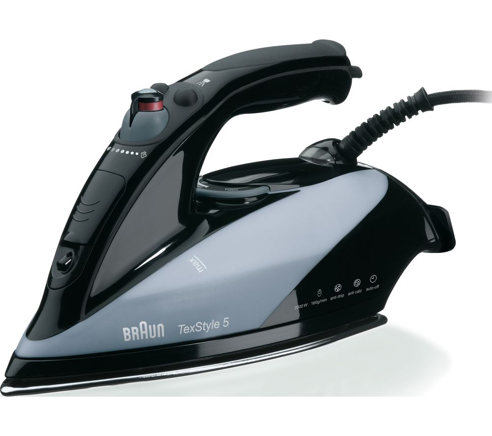 Image of BRAUN TexStyle 5 TS545EA Steam Iron - Black, Braun