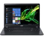 £429, ACER Aspire 3 A315-42 15.6inch Laptop - AMD Ryzen 3, 256 GB SSD, Black, Everyday: All-rounder for work and play, Windows 10, AMD Ryzen 3 3200U Processor, RAM: 4GB / Storage: 256GB SSD, Full HD display,