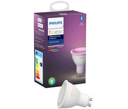 Hue White & Colour Ambience Bluetooth LED Bulb - GU10