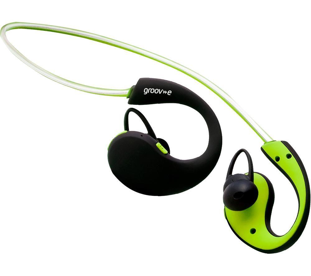 Action GV-BT800-GN Wireless Bluetooth Sport Headphones - Green, Green
