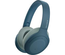 WH-H910 Wireless Bluetooth Noise-Cancelling Headphones - Blue