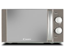 CANDY CMW20MSS-UK Compact Solo Microwave - Silver Best Price, Cheapest Prices