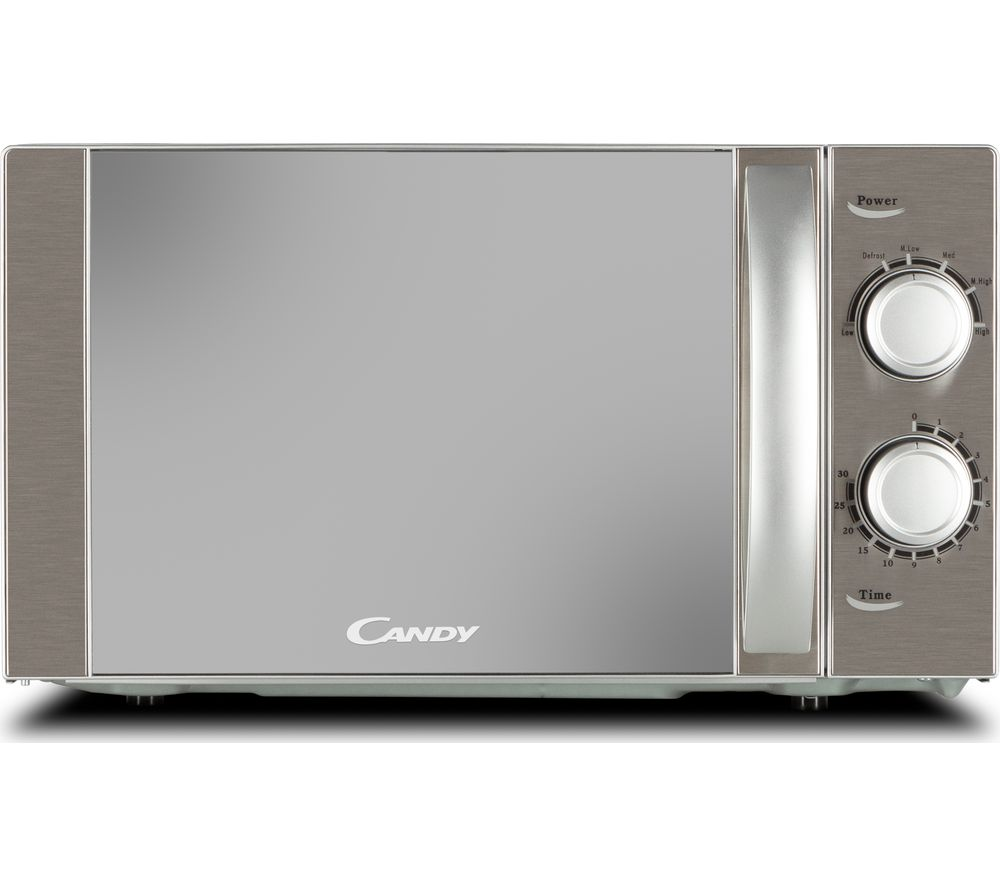 CANDY CMW20MSS-UK Compact Solo Microwave - Silver, Silver