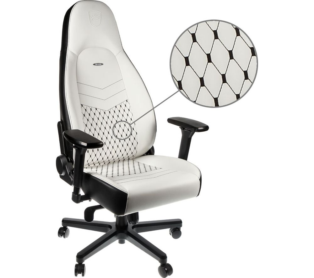 NOBLECHAIRS ICON Gaming Chair - White & Black