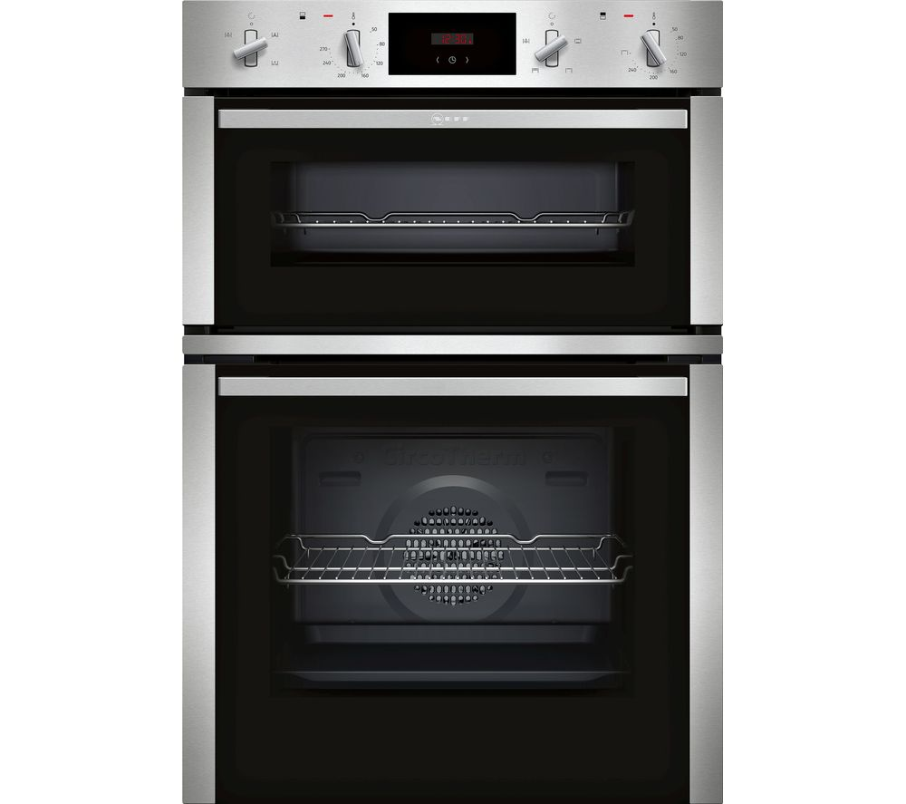 NEFF N30 U1CHC0AN0B Electric Double Oven - Stainless Steel