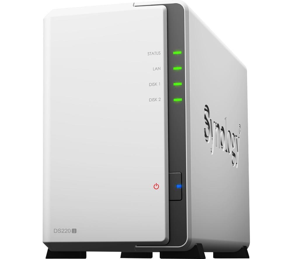 SYNOLOGY DS220J Disk Station Server NAS Drive - 4 TB, 2 Bay, White