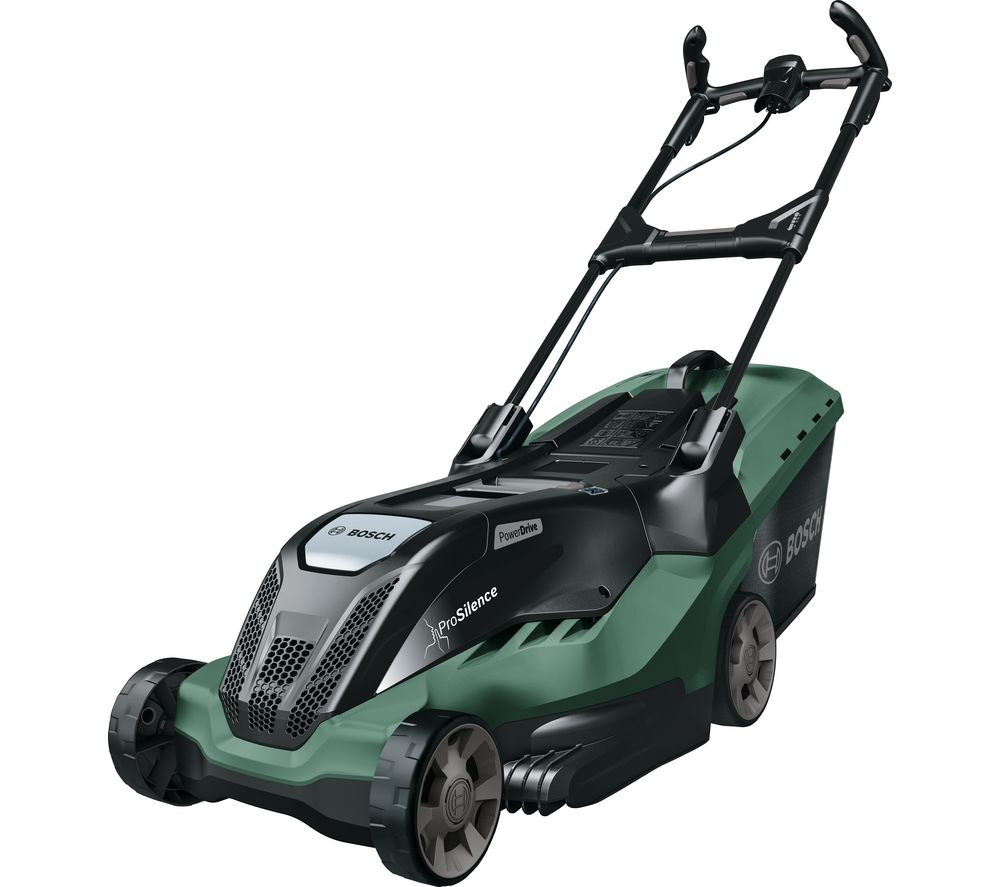 BOSCH AdvancedRotak 650 Corded Rotary Lawn Mower - Black & Green, Black