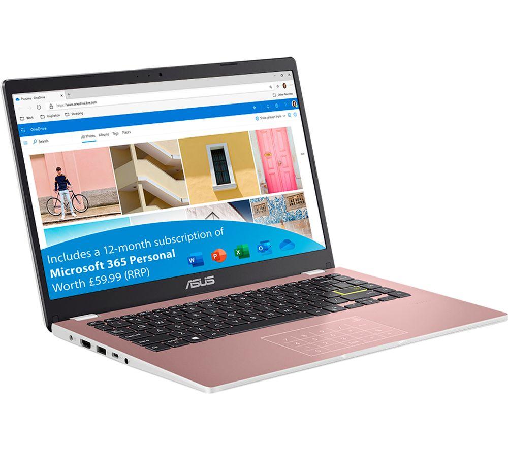 "ASUS E410MA 14"" Laptop - Intel® Celeron®, 64 GB EMMC, Rose Gold"