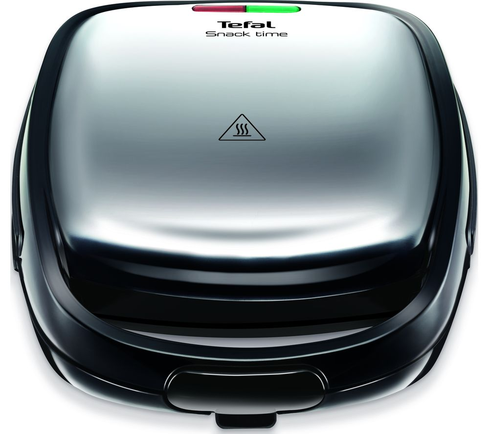 TEFAL Snack Time SW341D40 Sandwich and Waffle Maker - Stainless Steel & Black