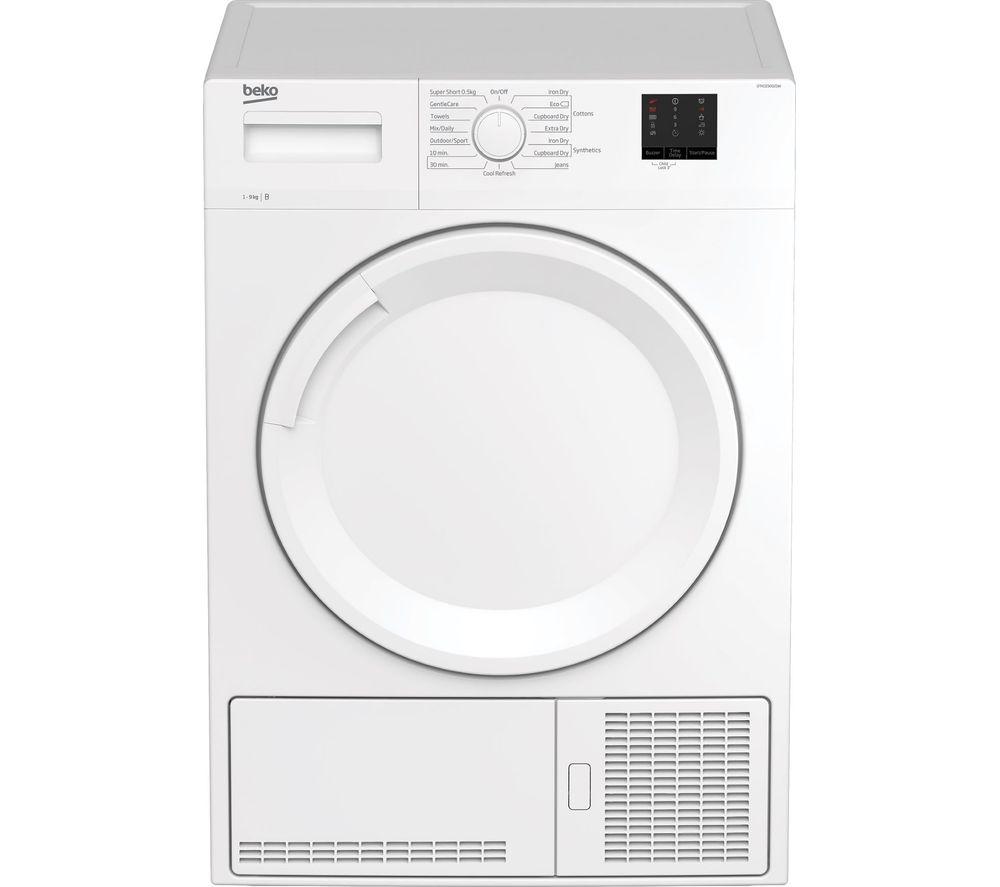 Image of BEKO DTKCE90021W 9 kg Condenser Tumble Dryer - White, White