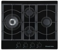 RH60GH403DS Midnight Collection Gas Hob - Black