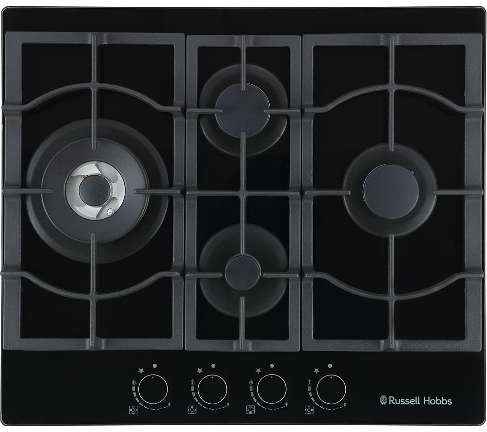 RUSSELL HOBBS RH60GH403DS Midnight Collection Gas Hob - Black