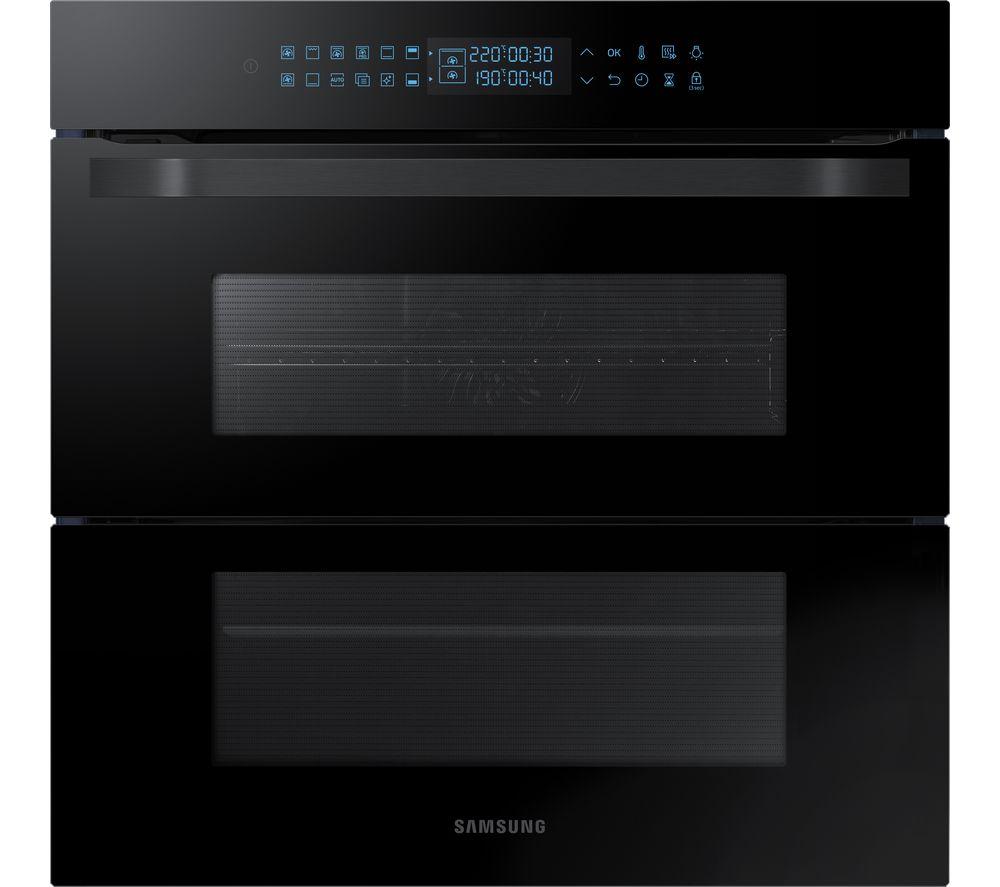 SAMSUNG Dual Cook Flex NV75R7676RB/EU Electric Oven - Black, Black