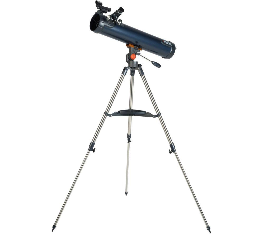 CELESTRON Astromaster 76LT AZ Reflector Telescope - Blue