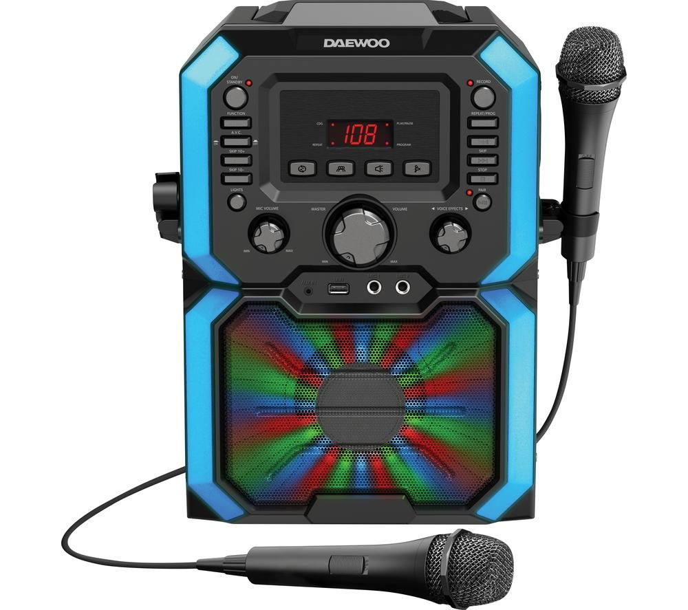 DAEWOO AVS1492 Bluetooth Karaoke System - Black, Black