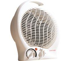 HEA1338 Portable Hot & Cool Fan Heater - White
