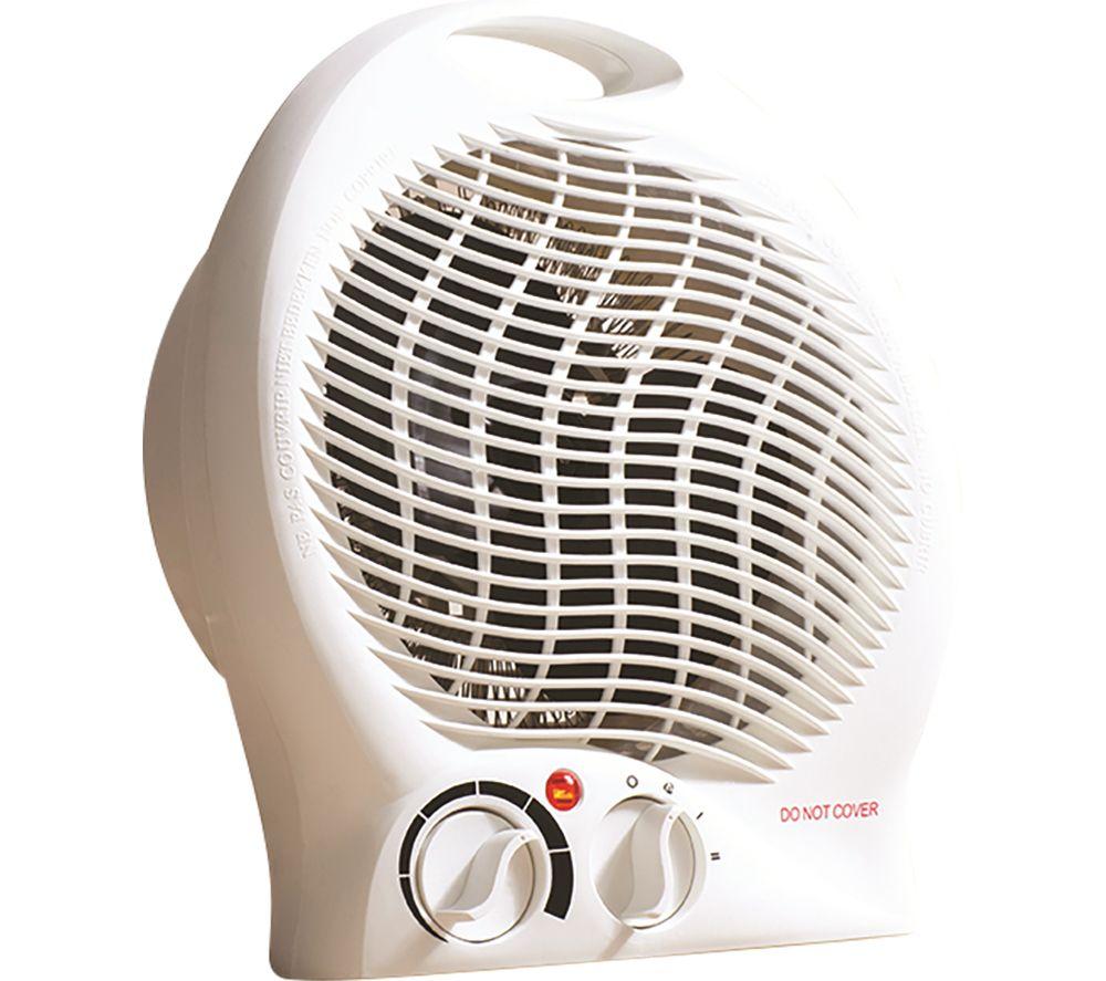 DAEWOO HEA1338 Portable Hot & Cool Fan Heater - White
