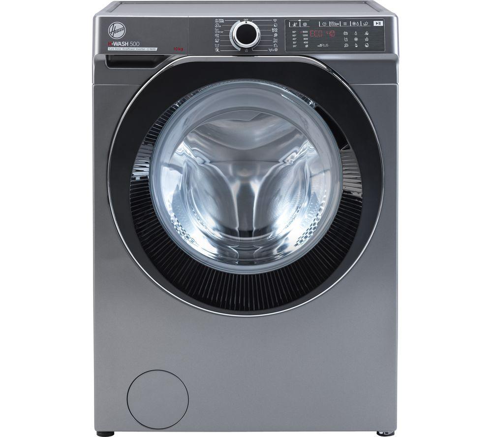 HOOVER H-Wash 500 HWDB 610AMBCR WiFi-enabled 10 kg 1600 Spin Washing Machine - Graphite, Graphite